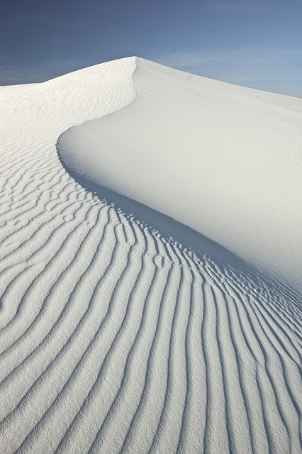 photography - photo of a sand dune in a white desert