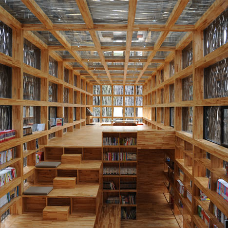 architecture student study photography library design reading books timber photo china architect