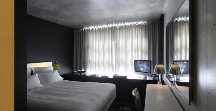 Mama Shelter Room, Paris, design, interior architecture, philip starck