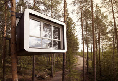 Tree Hotel architecture in sweden scandinavia romantic weekend tree house forest modern design