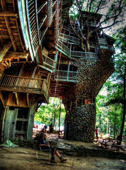 forest wood architecture crazy fun tree house