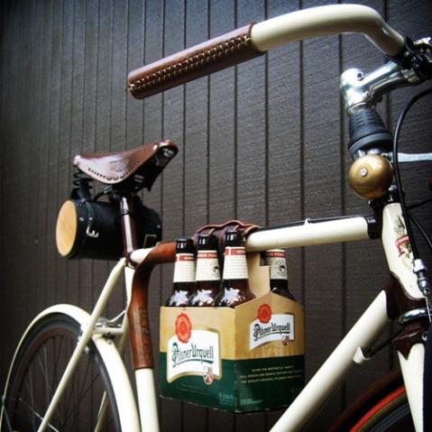 party beer bike bicycle biking gadget design 6 pack