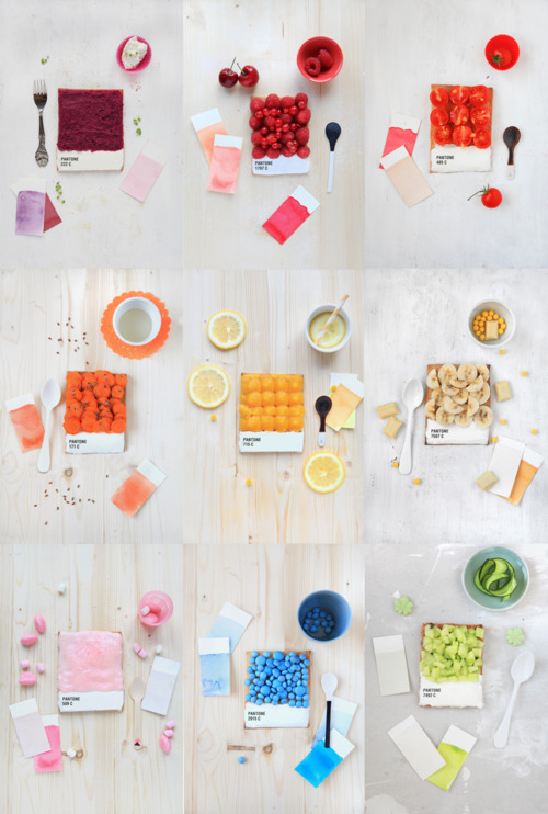 Pantone color snacks coloured breakfast eating food fruit red yellow photo photography image tumblr