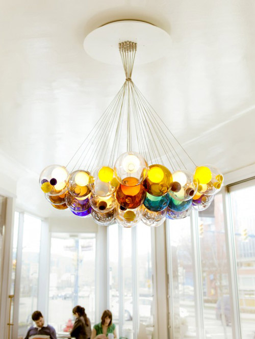 chandelier, light, colorful, bulbs, design, product design, interior design, photography