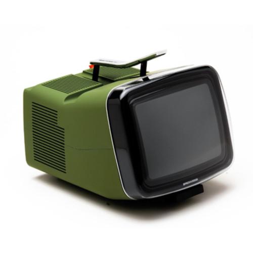 Design, green, product, khaki, tv, 60's , portable, Brionvega Algol TV, retro, vintage