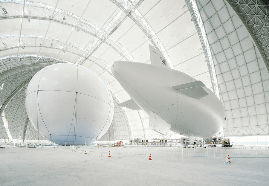 hangar zeppelin white, technology, flying air, helium photography architecture design minimalism gadget technology ballon