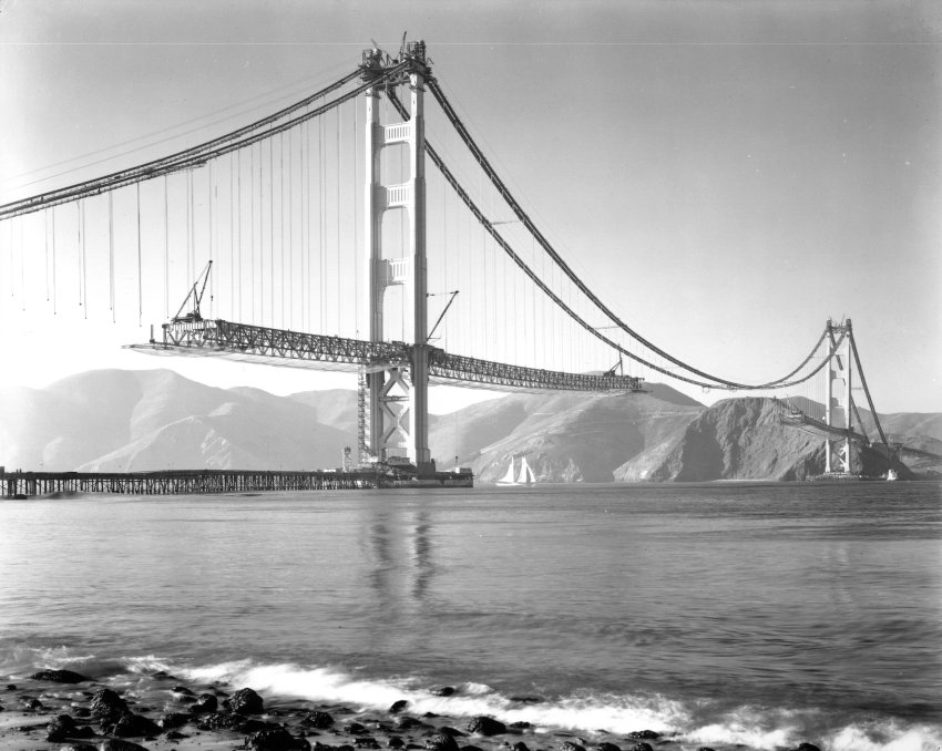 golden gate bridge, san francisco, USA, construction, 75th anniversary, architecture, photography