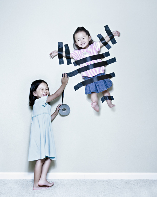 tape wall asian chinese children kids playing fun black tape duck tape photography photo blog tumblr