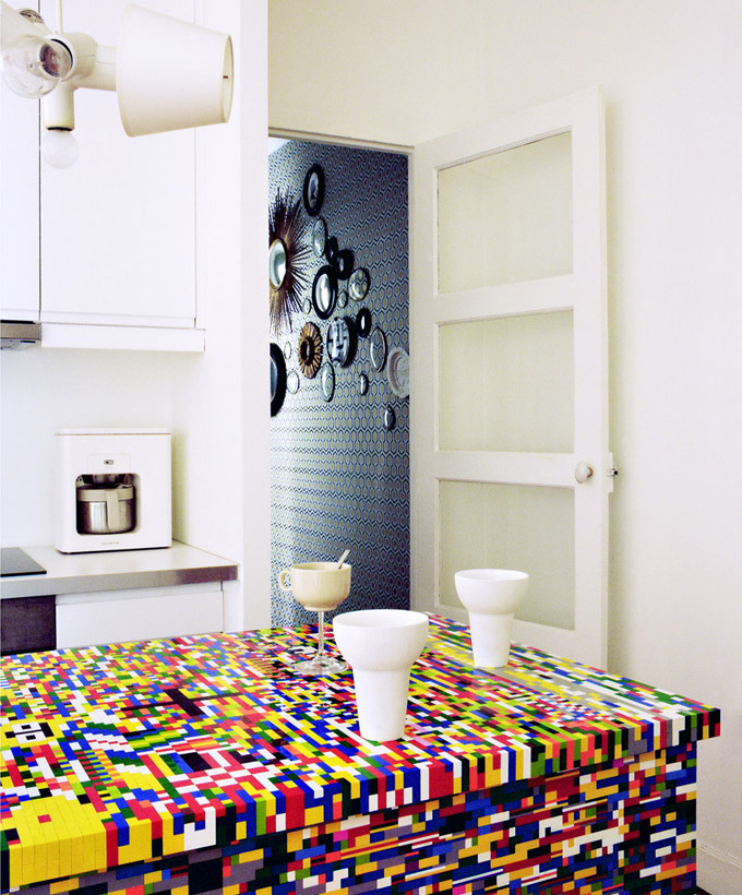 colourful kitchen lego design interior