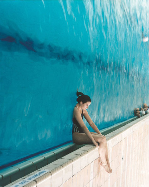swimming pool, swimming, bathing, water, cooking, photography, illusion, photo, image, optical illusion, up side down
