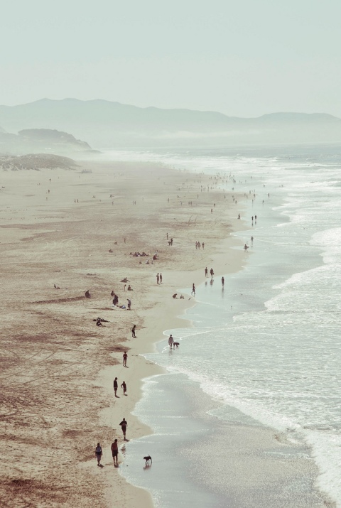 beach summer holiday sea water ocean sand people walking sky travel beauty photography photo art landscape tumblr