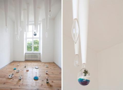 Miniature terrariums by Litill art exhibition berlin kunst gallery ausstellung glass design photography planet terrarium cute