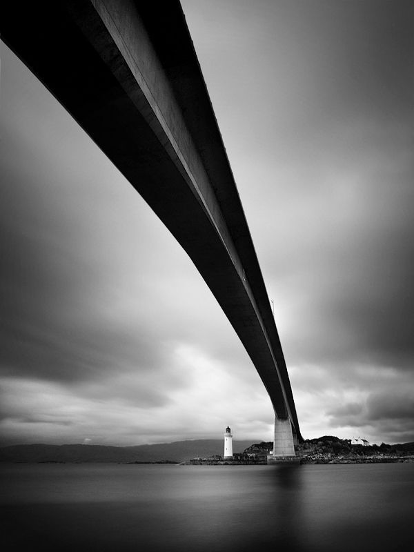 Black and white photograph of a bridge in scotland, UK by photographer Nina Papiorek architecture constrution beautiful black and white photo art tumblr