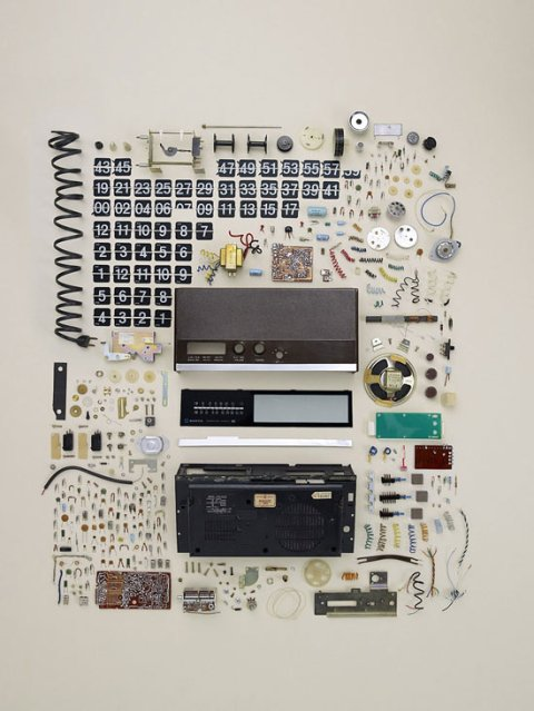 'alarm clock' disassembly by Todd McLellan clock time watch bits and pieces deconstruction disassembled photography photo art kunts tubmlr picture image
