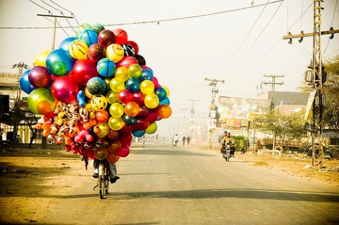 birthday balloons colour bike bicycle helium funny cute balloon colourful celebration