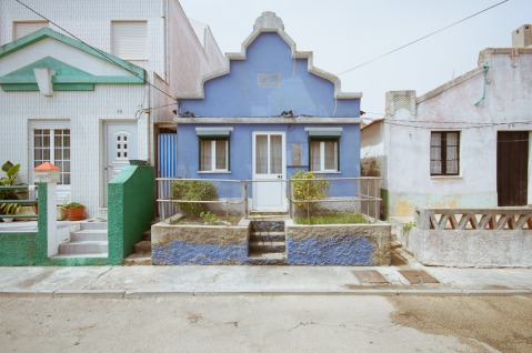 Costa Nova, Aveiro, Portugal by Dacian Groza architecture photography photo summer holiday beautiful colourful coloured colour houses facades paint painted blue home house portugal architect