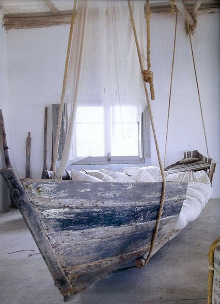 summer, life, dream, boat, inspiration, design, interior design, architecture, hanging bed, wooden boat, photo, photography, tumblr