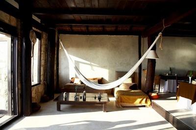 indoor hammock sleeping lazy holiday summer warm flat aparment beautiful innovative bed bedroom sun sunny comfortable