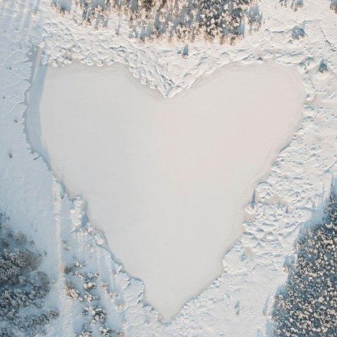 love, photo, aerial photography, landscape, nature, lake, ice, snow, winter, heart, frozen lake romance love romantic