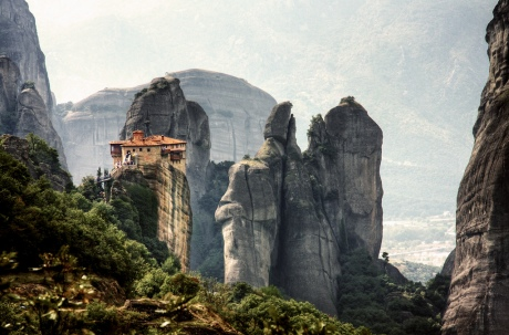 Monastry in Meteora, Greece, travel, monks, climbing, rock climbing, nature, mountains, amazing landscape beauty, photography photo image