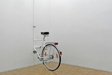 bike art in wall sculpture exhibition photography installation bicycle metal gallery