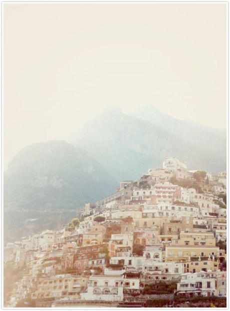 City town of Positano, Italy europe travel houses mountain architecture urban village white picturesque mountain town of position hills of italy summer holiday travel photography