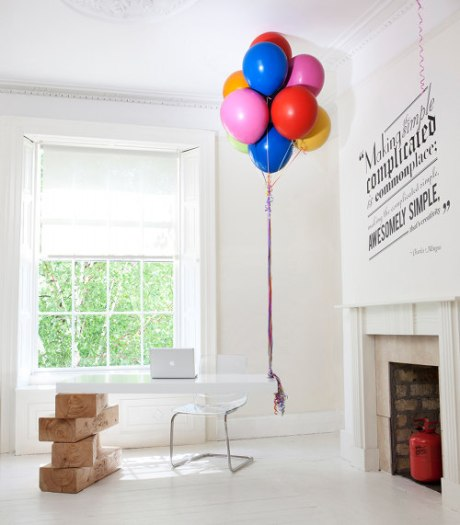 Hot air ballon desk by Liam Murphy interior design furniture decoration style innovative cool ballons photo architecture wood white modern inteior architecture photography