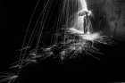 Light Painting by Simon Berger art photography light black and white amazing light cool photo artistic crative weather rain umbrella