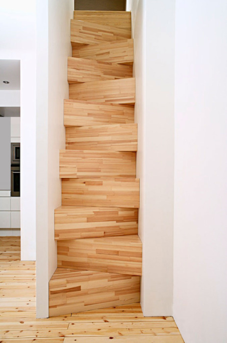escadas steep timber staircase stairs architecture steps wood interior design flat apartment building