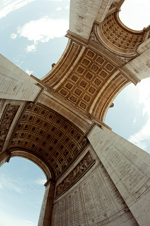 arc de triumph, monument, architecture, photography, photos, perspective, views, Paris, travel, destination