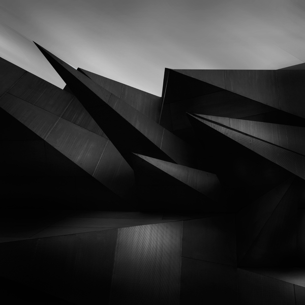 sharp, edgy, black, roofs, facade, architecture, photography, black and white, design, acute, sharp roof edges, angular