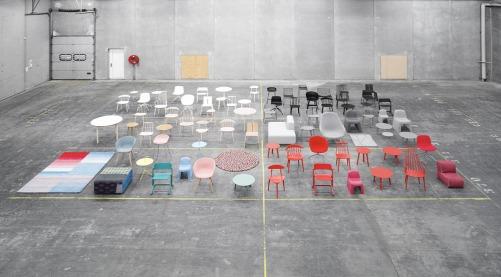 collection chairs storage concrete colourful famous vitra charles eames arne jacobsen colour pallet gradient