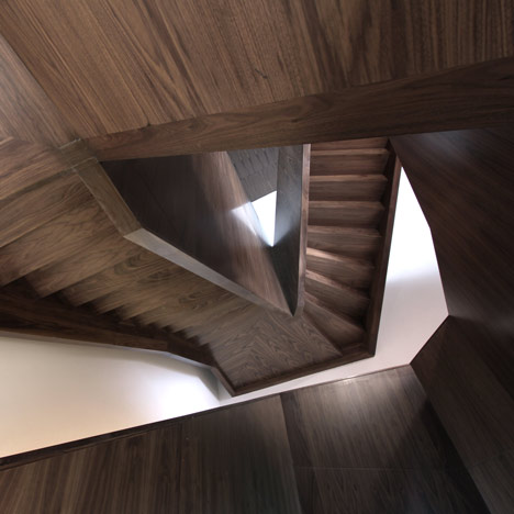 exit, stairs, wooden crazy view architecture photography photos design structure edgy angular