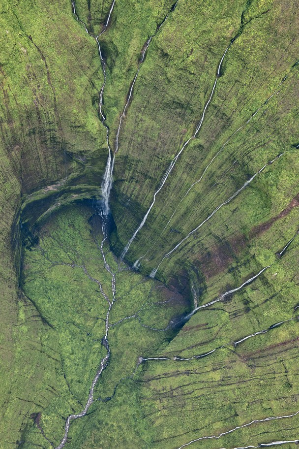 green heart landscape photography national geographic heart of kauai photograph waterfall mountain cave aerial view hole ground earth