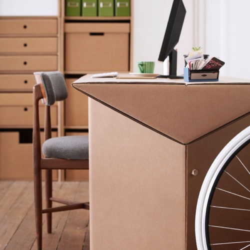 cardboard interior furniture design architecture