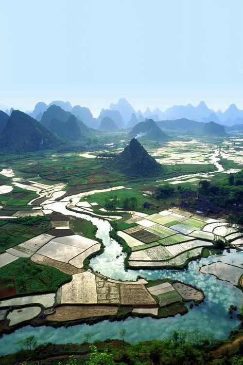 Yangshuo Shangri-la  Guilin rice fields landscape china mountain river nature earth climate landscape photography beautiful stunning best places in the world top visit destination