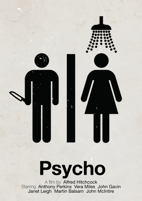 movies movie poster psycho movie cinema graphic design art layout logo artistic style font