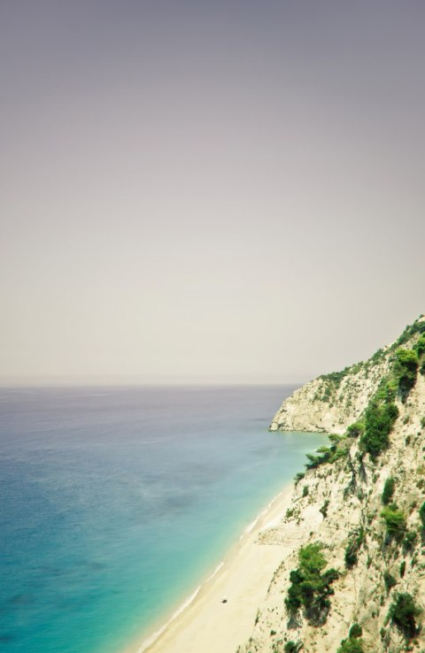 dream beach summer holiday travel island swimming greece lefkaka mountain sea see beautiful stunning