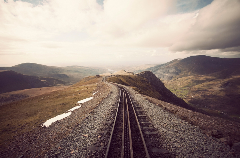 train track photography nature stunning panorama panoramic shot photo landscape nature countryside photography view horizon sky mountains terrain