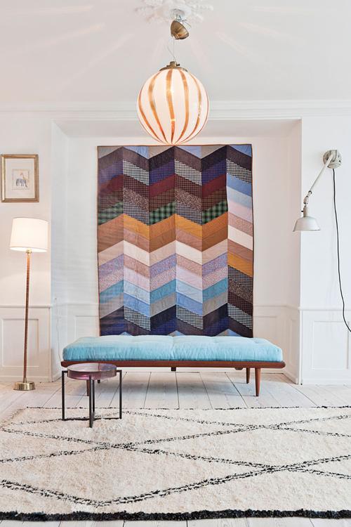 apartment, design, interior design, photography, photos, colorful textures carpet interior living room cosy hanging carpet pattern