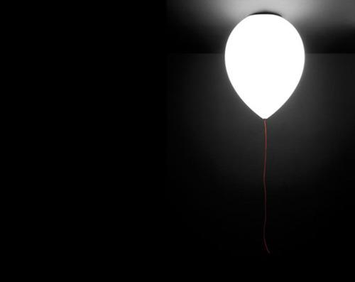 ballon light, design, product design, industrial design, interior, night glow dark room photography, photos,