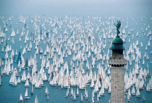 sailing rally boats race harbour sea water ocean swimming photography large group number of sailing boats sailing cup race prize image photo