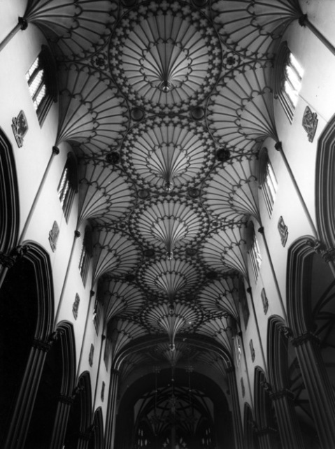 christian baptist evangelist pope catholic church scotland vaulted church roof organic architecture black and white vintage photography blog relgion gothic ceiling structure beautiful organic chruch roof detail