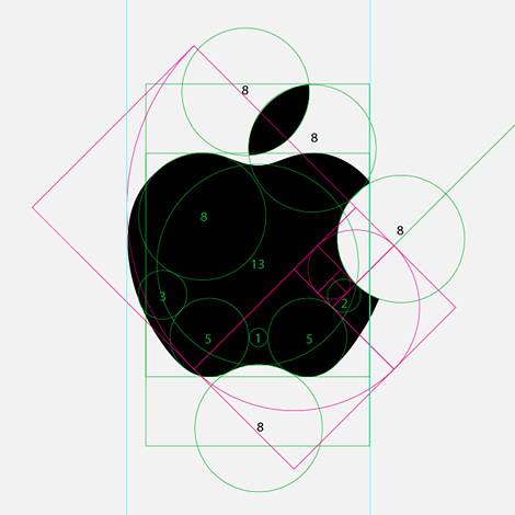 apple logo design graphic how to radius circumference golden ratio art tips guide