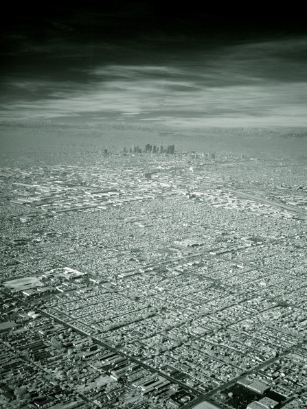 Los angeles by Michael Görmann city LA california hollywood USA unites states architecture urban neighbourhood aerial photography of los angeles dense street milliions population black and white monochrome photography