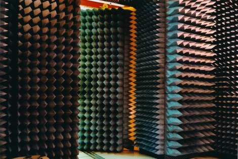 recording studio anechoic chamber sound architecture design absorbing sound noise resonance wall interior design photography