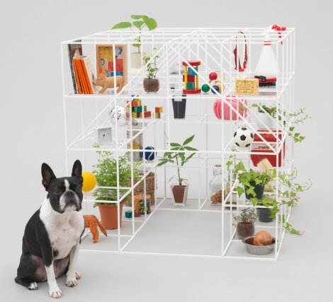 Sou Fujimoto's home for a Boston terrier, and his House NA (2012) japan modern minimalist architecture style photography blog best