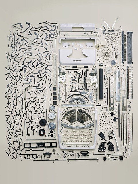 Born in Saskatchewan and currently residing in Toronto, Canada; photographer and artist Todd McLellan's latest series, Disassembled, explores the deconstructed beauty of electronics. Todd meticulously disassembles each device and carefully lays out every individual component for his shoot. The project culminates with some incredible photographs of all of the components suspended in mid-air, seemingly frozen in-time.     McLellan, a fellow Torontonian, is part of the team at Sugino Studio, a Toronto-based film and production company. For more examples of his personal work I urge you to visit his personal art photgraphy deconstruction typewriter machine writing photography best amazing cool