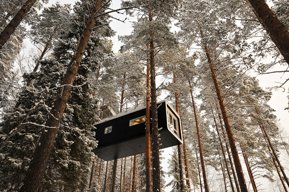 Tree hotel sweden holiday book travel romantic weekend architecture modern photography cabin in woods