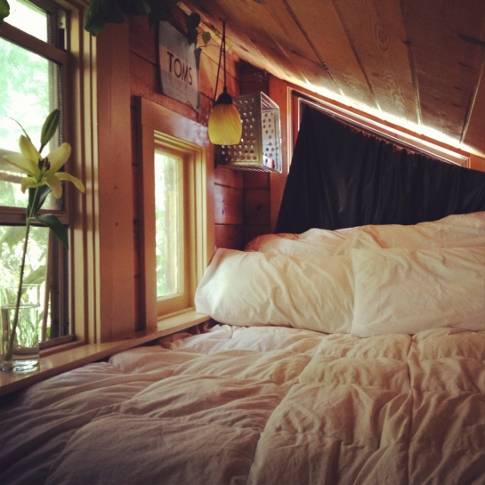 weekend cabin bed sleeping sunday window timber house flat cute cozy bed in forest cabin timber architecture  holiday travel photography best blog wordpress tumblr